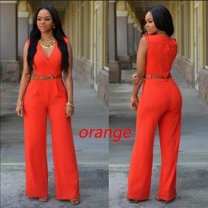 Orange classy jumpsuit